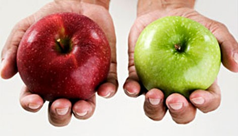 compare foods - apples with oranges