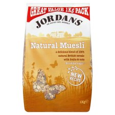 Jordans Natural Muesli 1Kg from Tesco