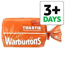 Warburtons Toastie Sliced White Bread 400G from Tesco